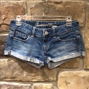 American Eagle Jean shorts size 0.
